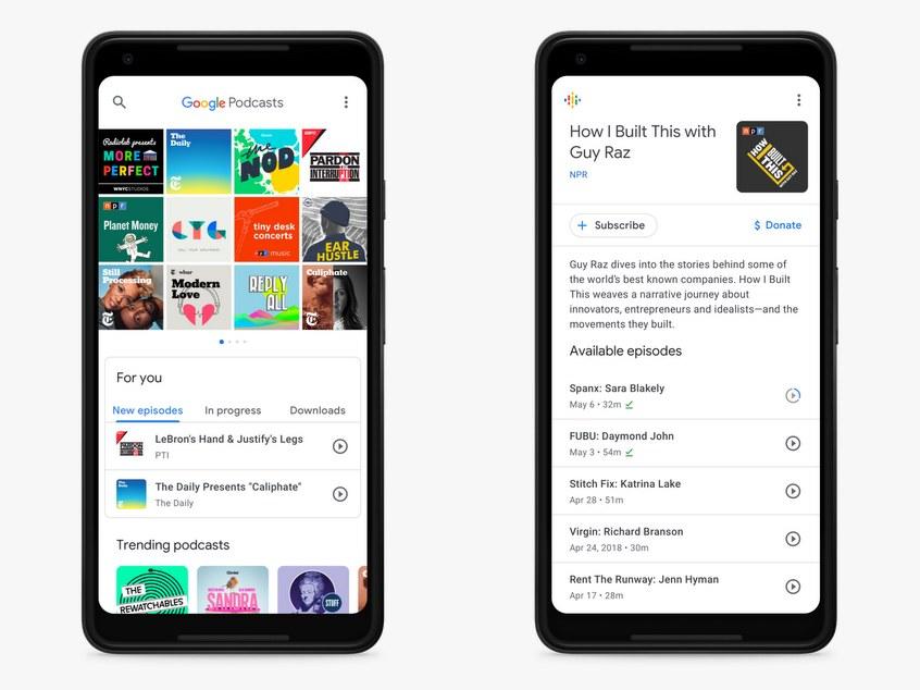Google podcasting app